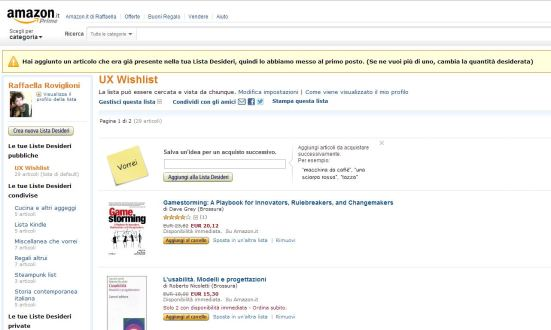 Alert su wishlist di Amazon.it